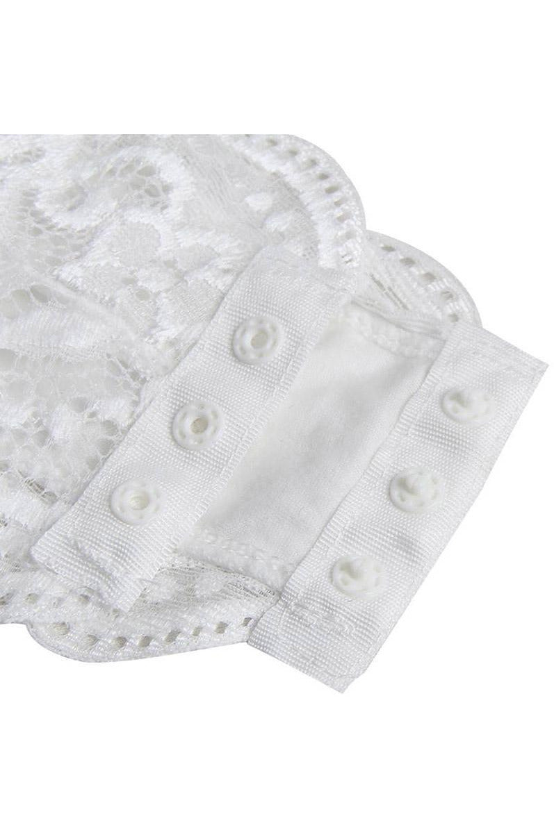 White Lace Bodysuit Teddy-Teddy-PureDiva