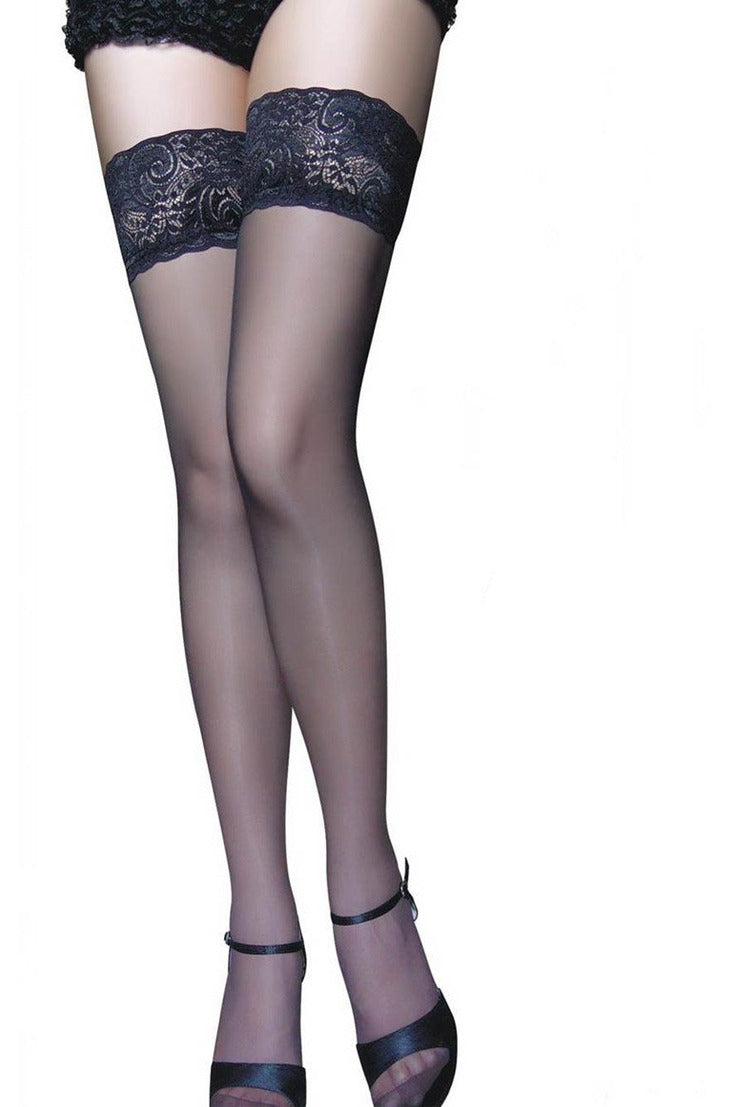 Stay Up Thigh High Stockings-Leg Wear-PureDiva