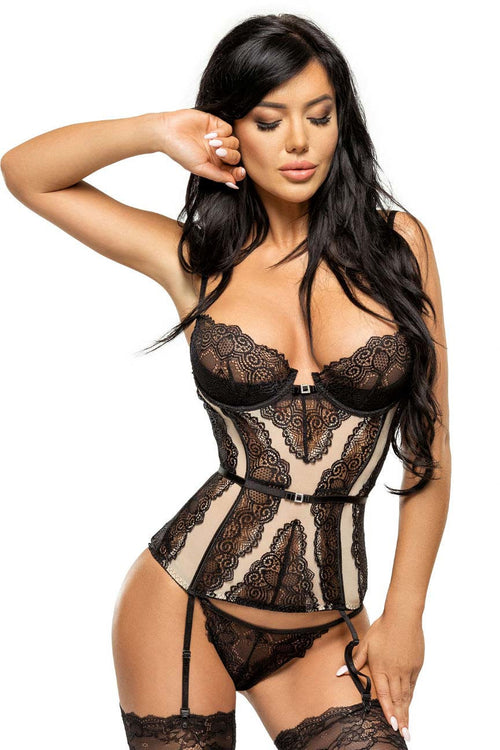 Ravenna Luxury Corset-Teddy-PureDiva