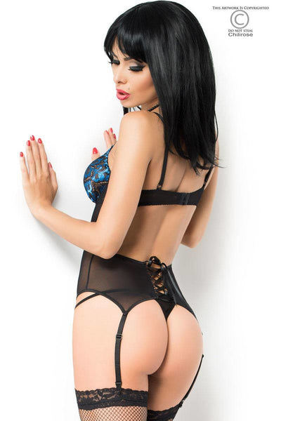 Blue Diamond Sexy Corset - PureDiva