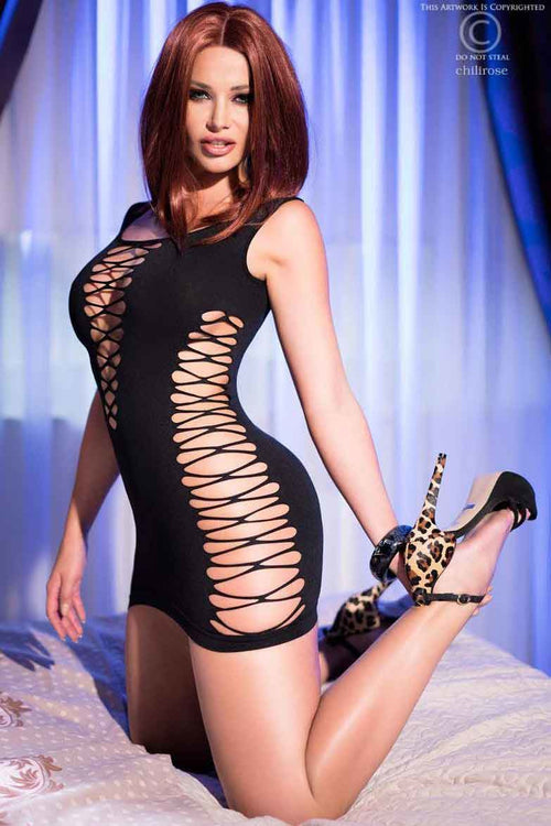 Hot Sexy Black Dress-Party Dresses-PureDiva
