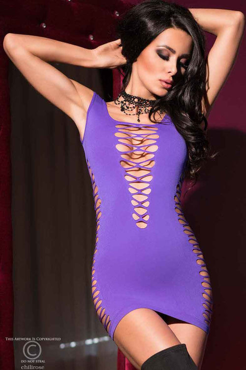 Hot Sexy Purple Dress - PureDiva