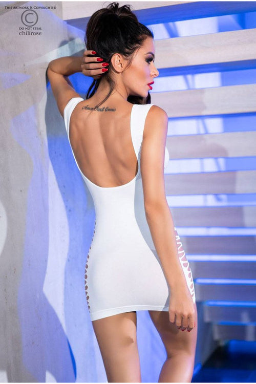 Hot Sexy White Dress-Party Dresses-PureDiva