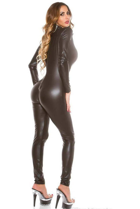 Wetlook Catsuit 2-Way Zip