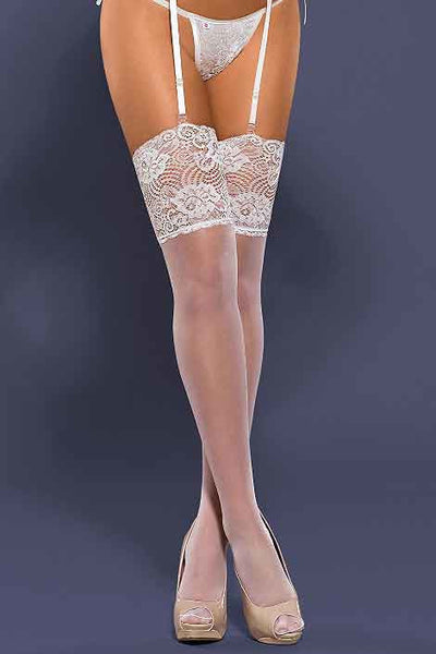 Obsessive White Lace Thigh Highs