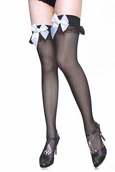 Sexy Interpretation Stocking White Bow-Leg Wear-PureDiva