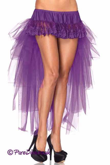 Purple Ruffle Long Skirt-Petticoats-PureDiva