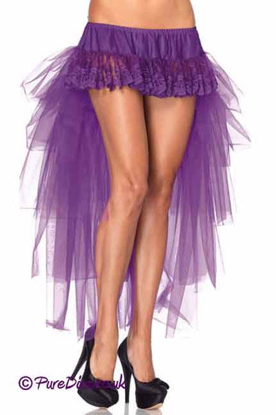 Purple Ruffle Long Skirt