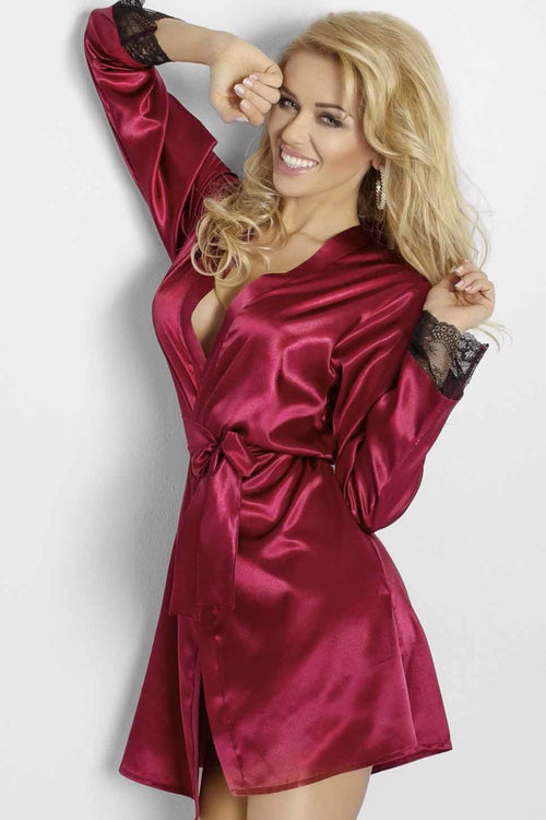Luxury Satin Dressing Gown Robe - PureDiva