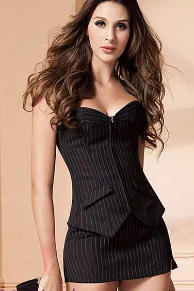 Sexy Office Corset Set
