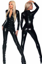 Mistress Black Catsuit-Wet Look & PVC-PureDiva