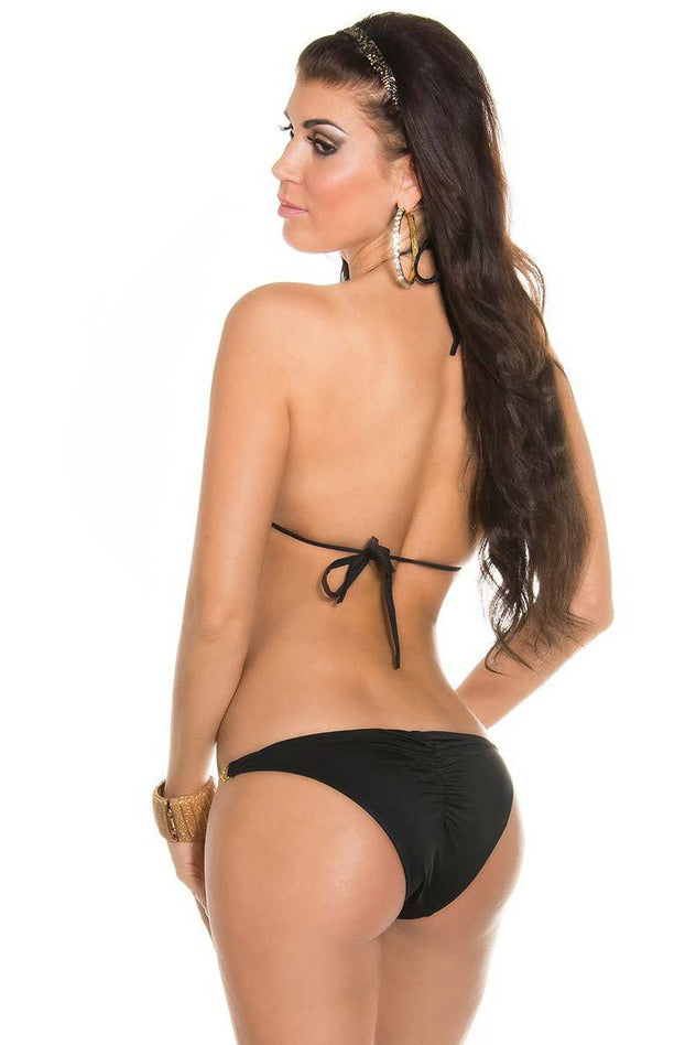 Black Bikini with chainstraps - PureDiva