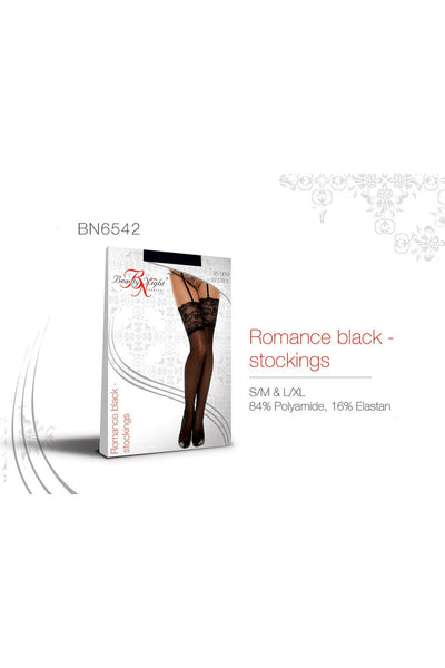 Romance Lace Top Stockings Black