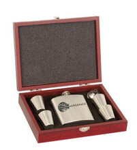 Stainless Steel Flask Gift Set with Wood Box #FSK11