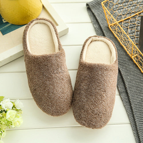 Home Cotton Plush Slippers