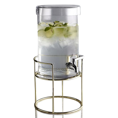 Cold Drink Dispenser with Gold Stand - Crate & Barrel
