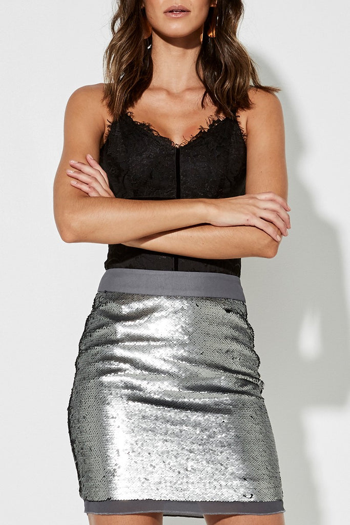 Mossman | The Heavy Metal Skirt in Gunmetal