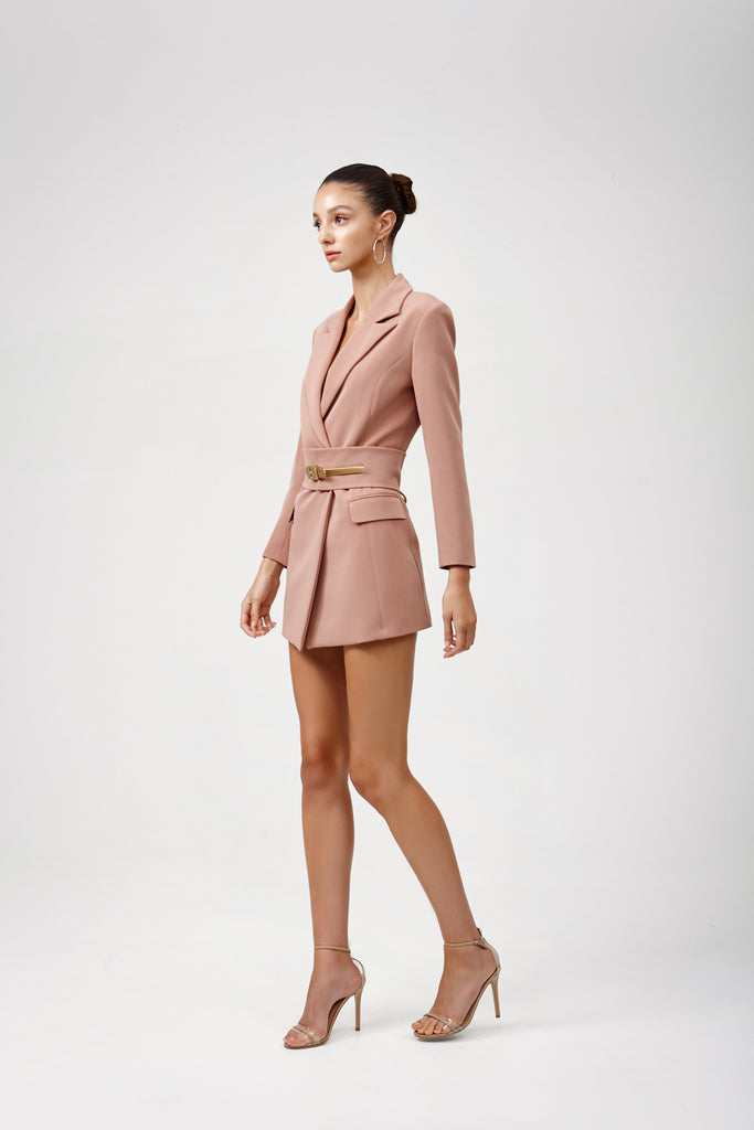 Lexi Sacha Jacket Dress | Dusty Pink-