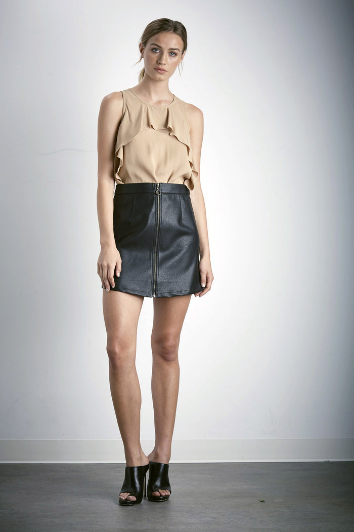 Shilla Beyond Vegan Mini Skirt | Black