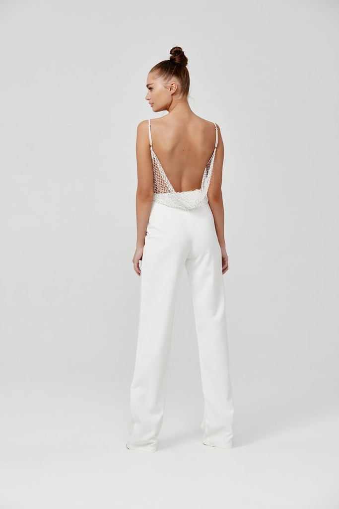 Lexi Madeline Jumpsuit | White