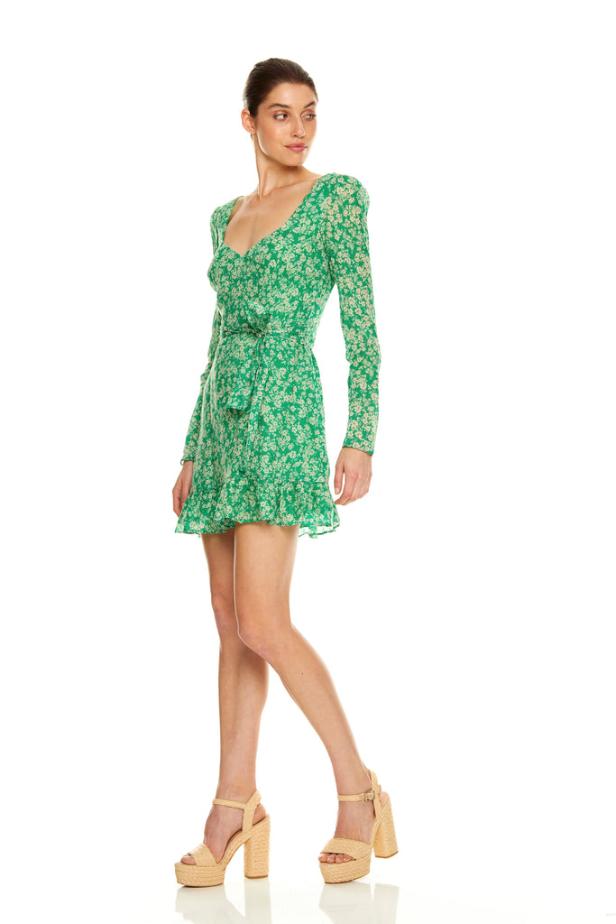 Talulah Green with Envy Long Sleeve Mini Dress-