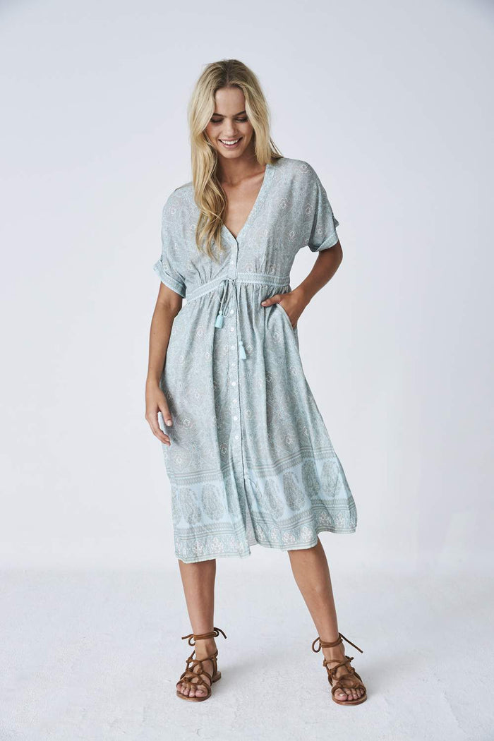Indian Summer Co Haveli Midi Dress | Cloud