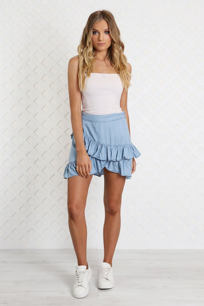 Madison Square Wrapped on you Skirt | Chambray
