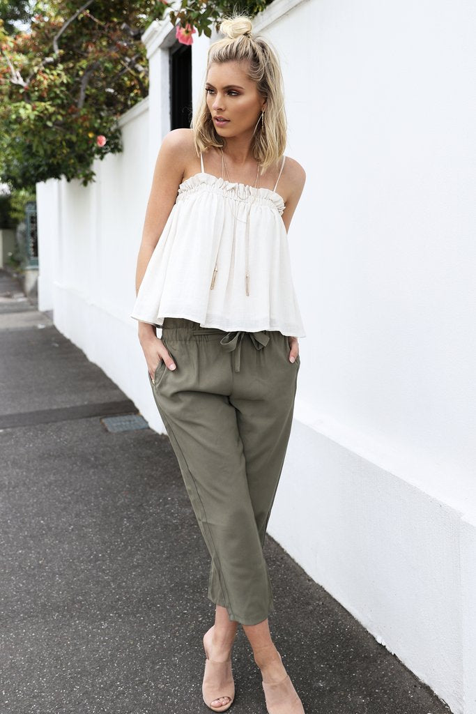 Madison Square Alexis Pant in Khaki