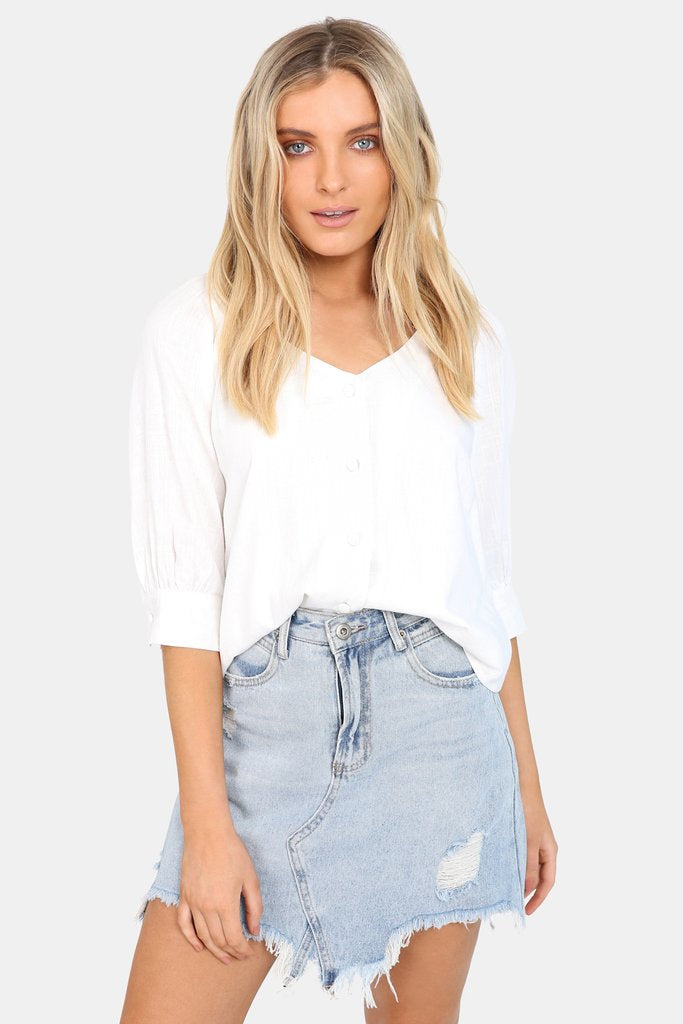 Madison Square Lana Top | White