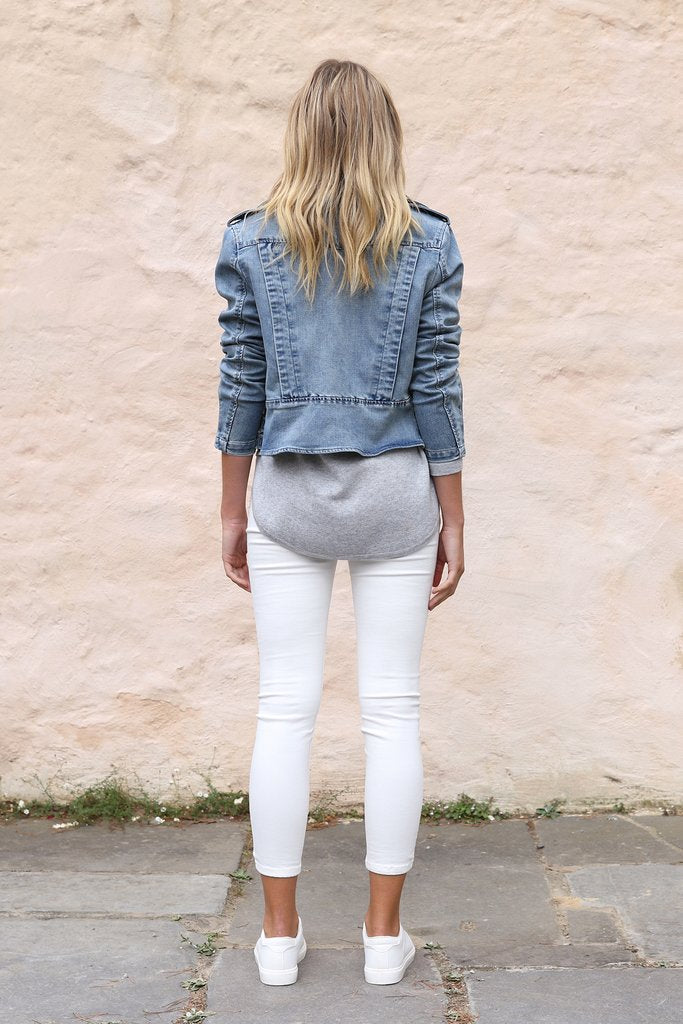 Madison Square Avery Biker Jacket Denim