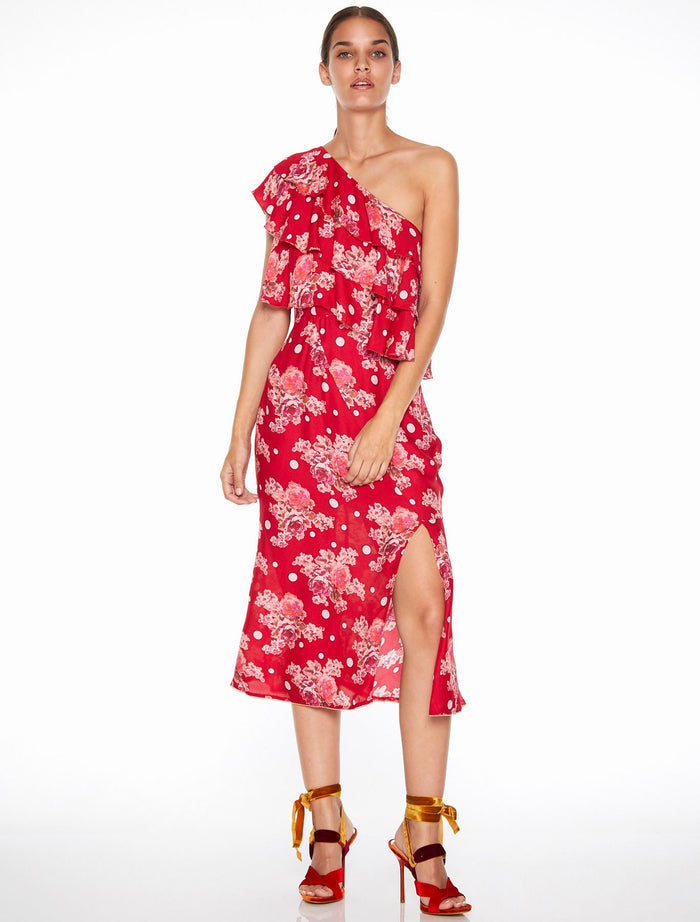 Talulah Florence Ruffle Midi Dress-