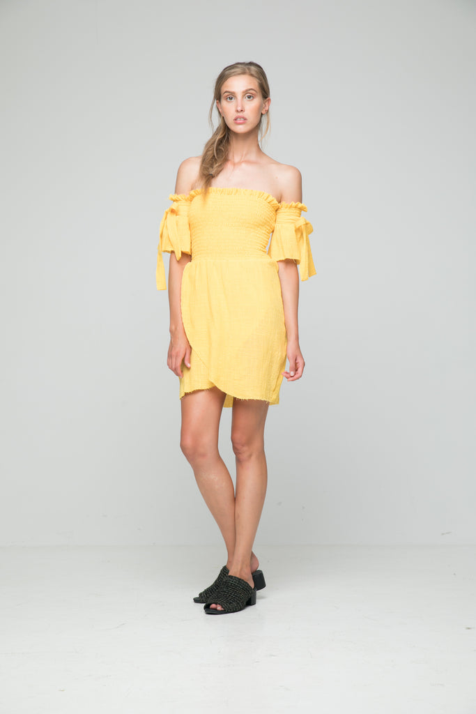 Rue Stiic Antonio Mini Dress in Marigold