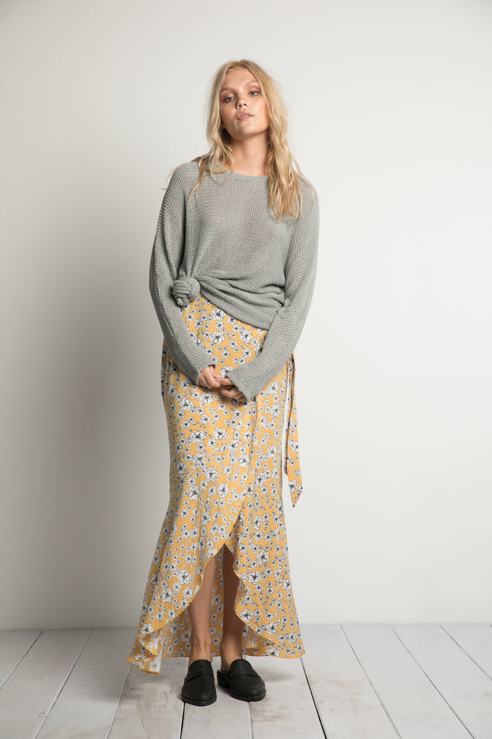 Rue Stiic Houston Slouch Knit in Grey