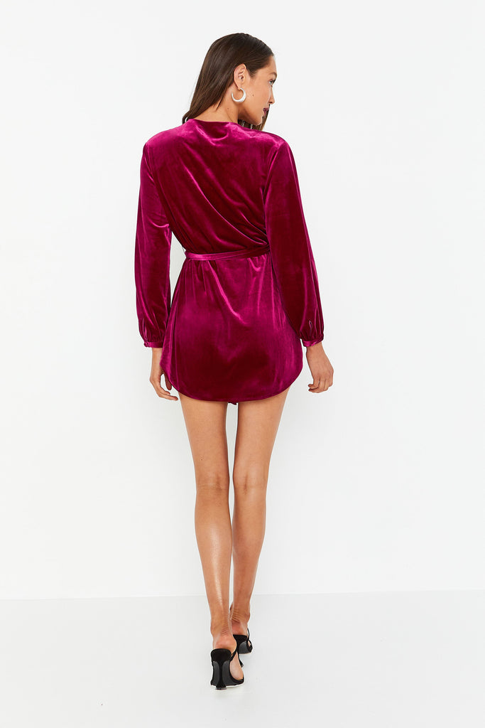 Mossman The Jagger Mini Dress | Berry