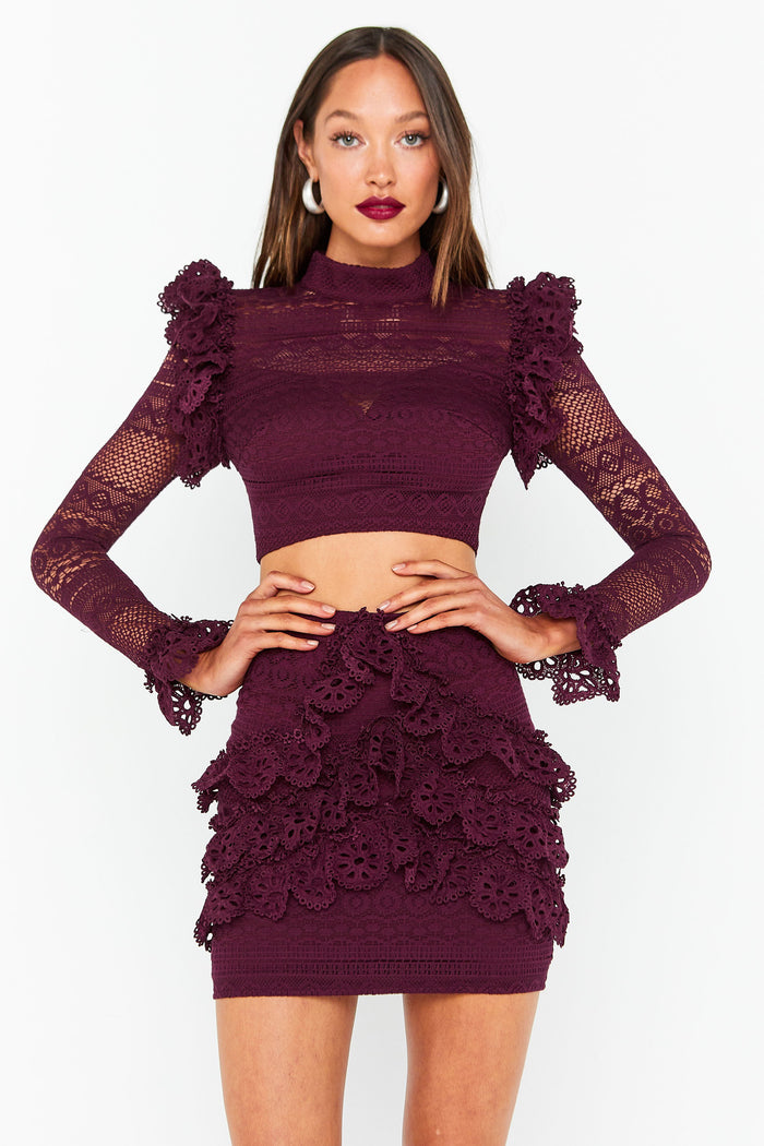Mossman The Romanticist Crop Top & Skirt Set
