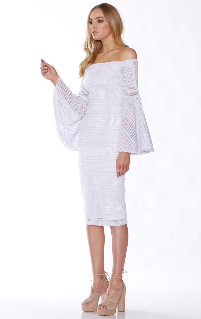Pasduchas Hendrix Midi Dress in Ivory