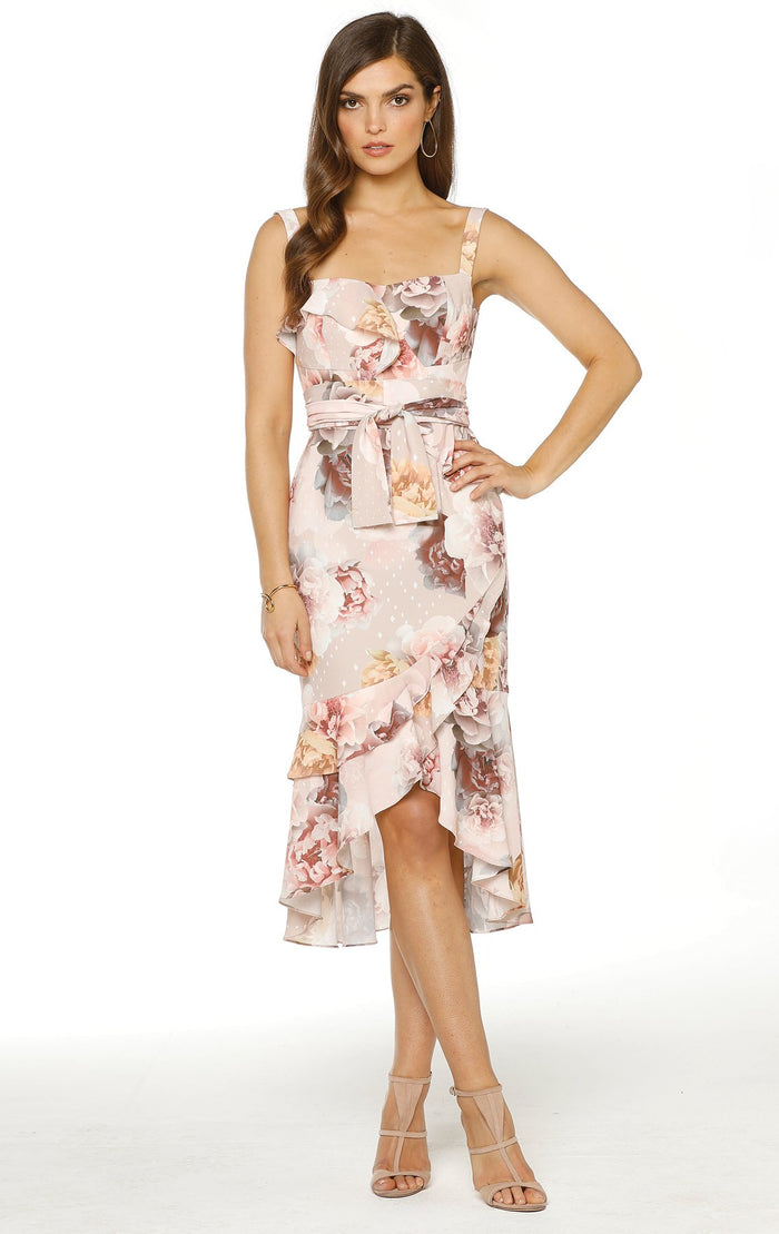 Pasduchas Porteno Ruffle Midi Dress-
