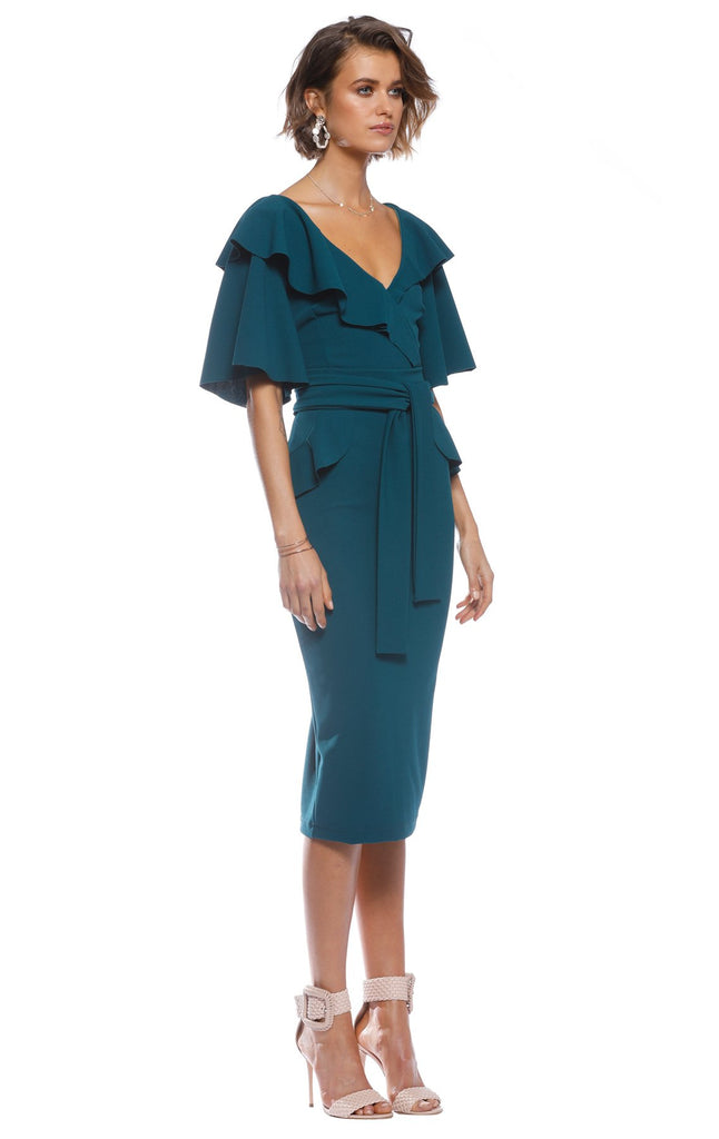 Pasduchas Ritual Midi Dress in Teal