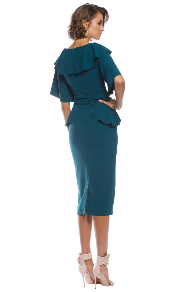 Pasduchas Ritual Midi Dress in Teal-