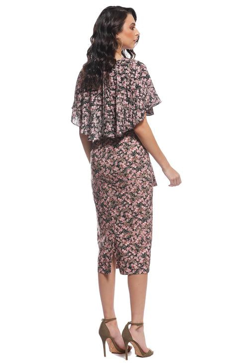 Pasduchas Virginia Cape Midi Dress-