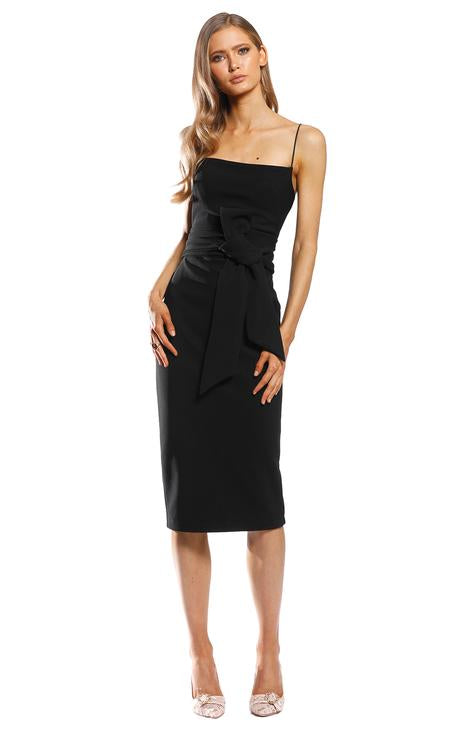 Pasduchas Dynasty Bow Midi Dress | Black