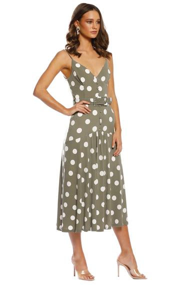 Pasduchas Fresco Belt Midi Dress | Sage