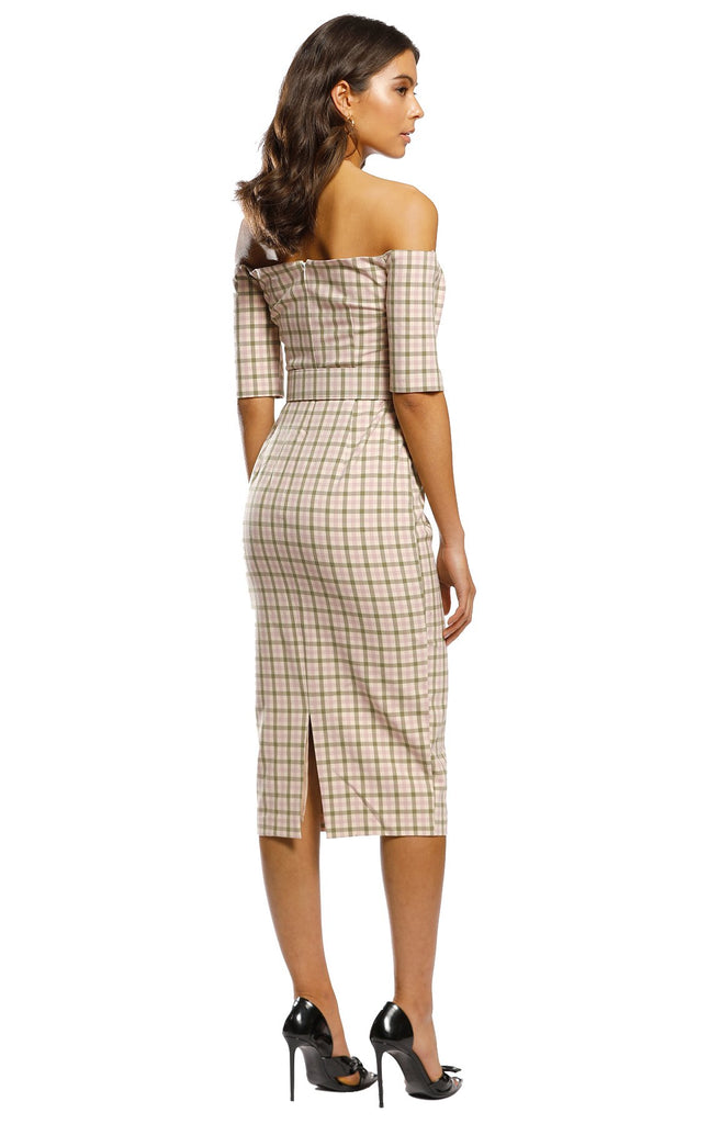 Pasduchas Checker Midi Dress