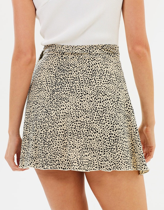 Rue Stiic Desi Mini Skirt in Leopard Print