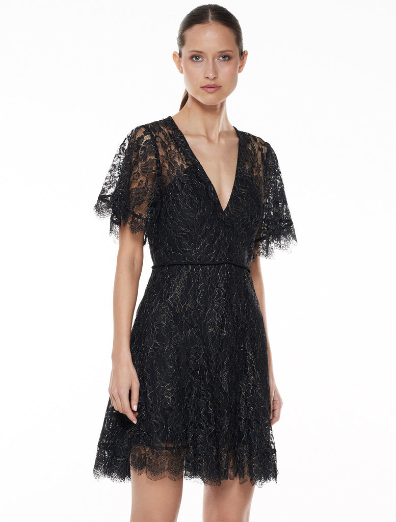 Talulah Foxy Lace Mini Dress-