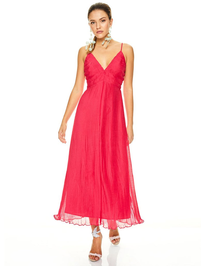 Talulah Rasberry Sorbet Midi Dress