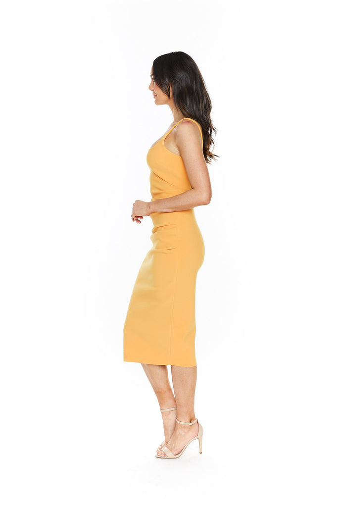 Bec & Bridge Karina Tuck Midi Dress