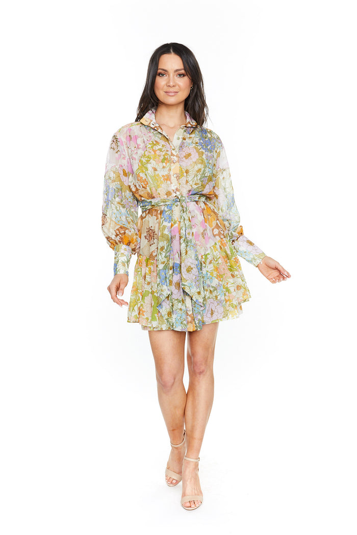 Zimmermann Super Eight Lantern Mini Dress