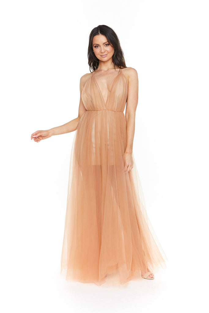 Lexi Amalie Dress | Apricot Cream-