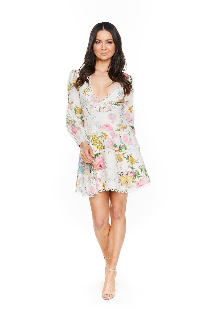 Zimmermann -Heathers Flounce Short Dress